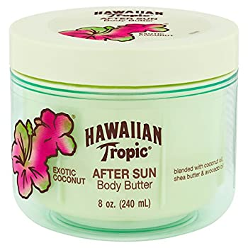 Hawaiian Tropic After Sun Lotion Moisturizer and Hydrating Body Butter with Coconut Oil 8 Ounce