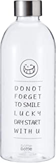 bottlebottle Petrichor Tritan BPA-Free Narrow Mouth Clear Workout Water Bottle Reusable for Gym, 20oz / 34oz