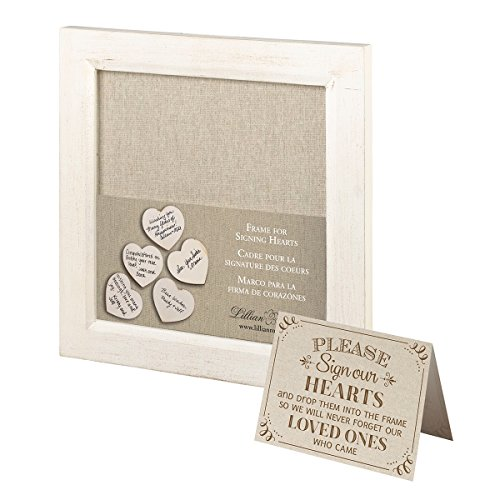 Lillian Rose GA568 Small Guest Signing Hearts Frame, Multi