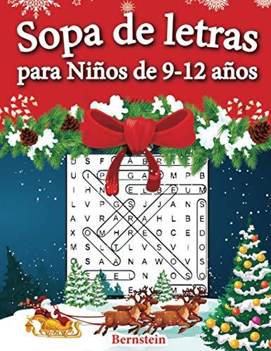 Sopa de letras para Niños de 9-12 años: 200 Sopa de letras con soluciones - Entrena la Memoria y la Lógica (Edición navideña)