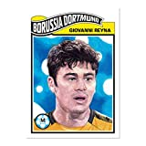 2020 Topps The UCL Living Set UEFA Champions League #180 Giovanni Reyna Borussia Dortmund RC Rookie Card Official Soccer Futbol Trading Card LIMITED PRINT RU... rookie card picture