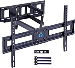 Full Motion TV Wall Mount Bracket for Most 37-75 Inch TV Articulating Arms Swivels Tilts Extension Rotation LED LCD Flat Curved Screen TVs, Max VESA 600x400mm up to 132lbs by Pipishell