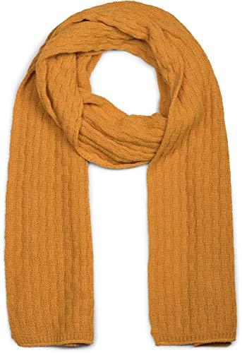 styleBREAKER uniseks effen gebreide sjaal met gevlochten patroon, winterse gebreide sjaal 01018161