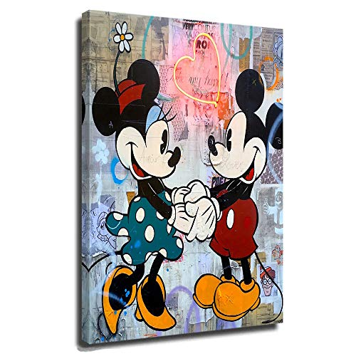 DRAGON VINES Mickey & Minnie Poster, beliebte Kunstmalerei, Gemälde, Poster, Mickey Mouse und Donald Duck, Cartoon-Animation, 50,8 x 76,2 cm