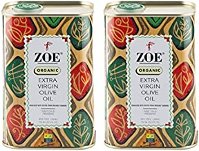 Zoe Organic Extra Virgin Olive Oil Tin, BPA Free Lining, 25.5 Ounce, Pack of 2