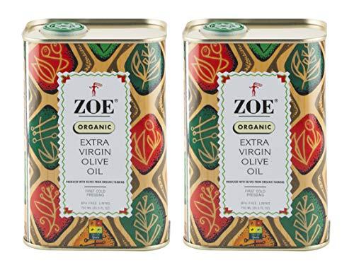 ZOE Organic Extra Virgin Tin Olive Oil, 51 Fl Oz (Pack of 2)