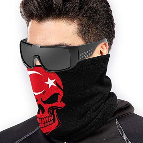 NA Türkei Flagge Totenkopf Mikrofaser nahtlos winddicht Bandana & Gesichtsmaske & Halswärmer Gaiter Shield – für Unisex