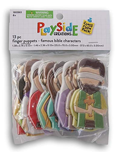 Playside Creations Famous Bible Characters Finger Puppets - 13 Count