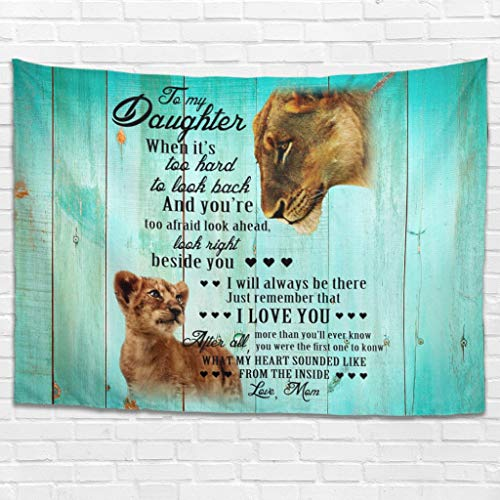 Dofeely to My Daughter Lion wandbehang muur ophangen Bed Sheet Beach Tapestry Home Decoraties voor muur slaapkamer woonkamer Decor