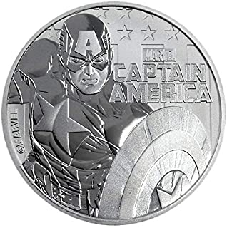 captain america silver coin