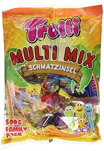 Trolli Multi-Mix Fruchtgummi, 6er Pack (6 x 500 g Beutel)