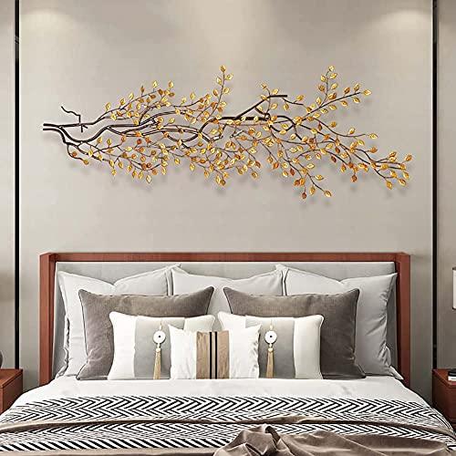 3D metalen wanddecoratie, bloeiende boom kleine vogel wanddecoratie sculpturen muur opknoping, slaapkamer, woonkamer, balkon, tuin, hof, hotel