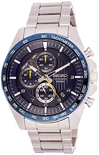 Seiko herenhorloge chronograaf met metalen armband SSB321P1