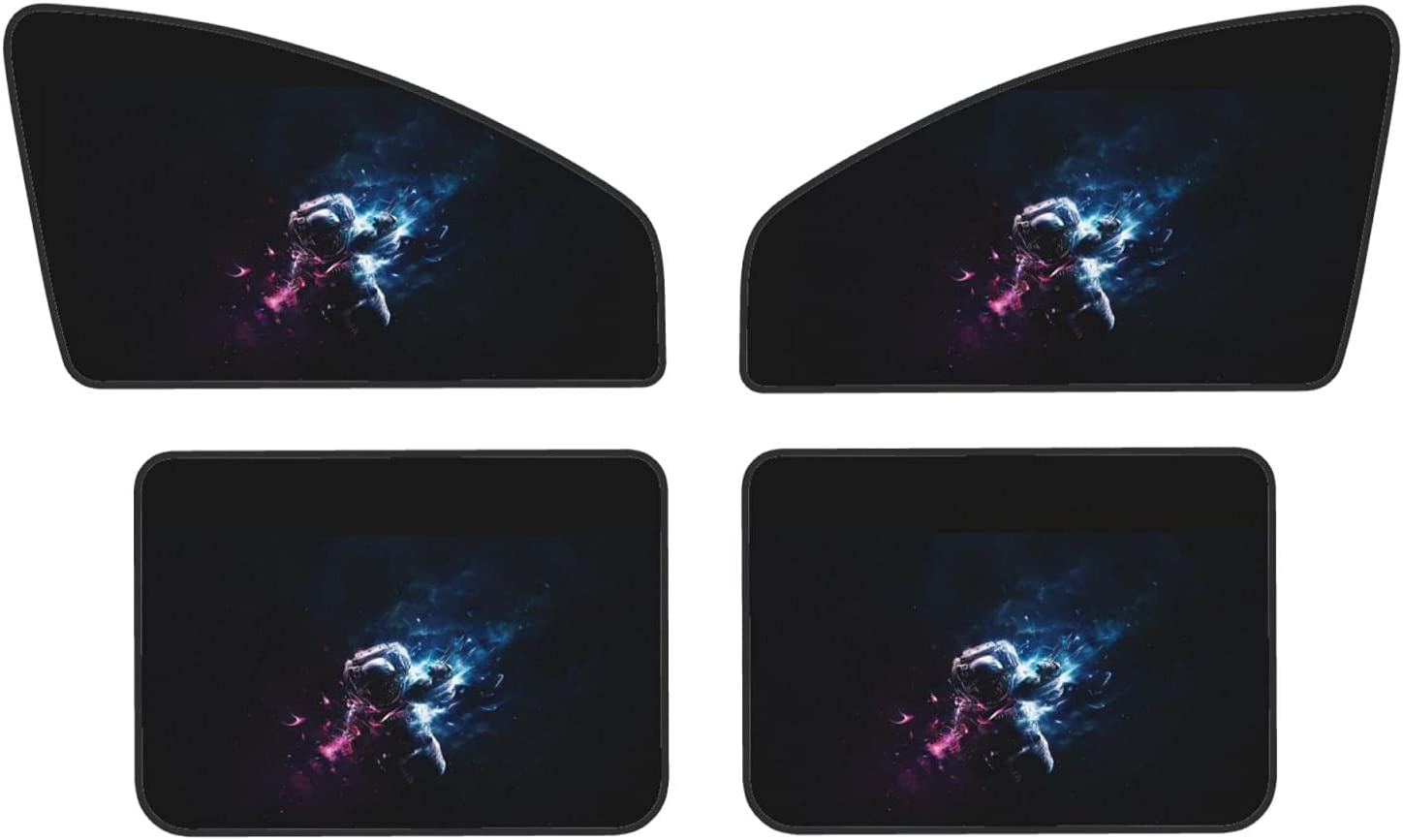 Free shipping anywhere in the nation Astronaut depot Art Car Side Window Set of Sunshades 4 Windshield