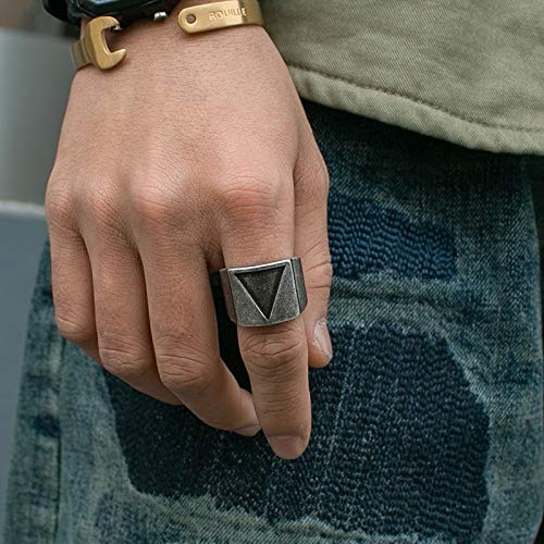 ZNYD Onlysda Acero Inoxidable de Viking Triángulo Anillo de la Vendimia Martillo Punky Retro Dedo de la joyería joyería del Hombre a Amor Regalo al por Mayor OSR067