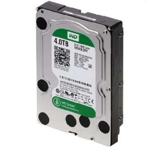 WesternDigital Festplatte 4TB WD40EZRX Green SATA3 3,5' intern, bis zu 7200 rpm, Puffer: 64 MB