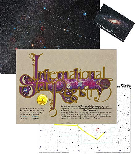 Star Registry Name A Star Custom Star Kit with Photographic Sky Image