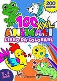 100 Animali Libro da Colorare: Per Bambini dai 3 ai 6 Anni - 100 Fantastici Animali: Mare, Campagna, Bosco, Polo Nord, Deserto, Giungla - Colora, Impara i loro Nomi e Scopri Dove Vivono