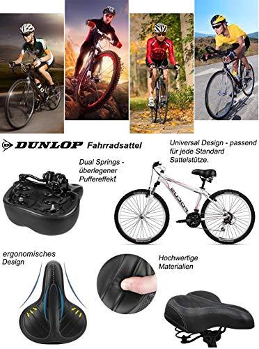 Dunlop FGS19 ergonomischer Cityrad Touring Gel Fahrradsattel, Damen Cityradsattel gefedert, Stoßresistenter weicher Gelsattel, Fahrrad Sattel extra gepolstert, Komfortsattel, schwarz - 6