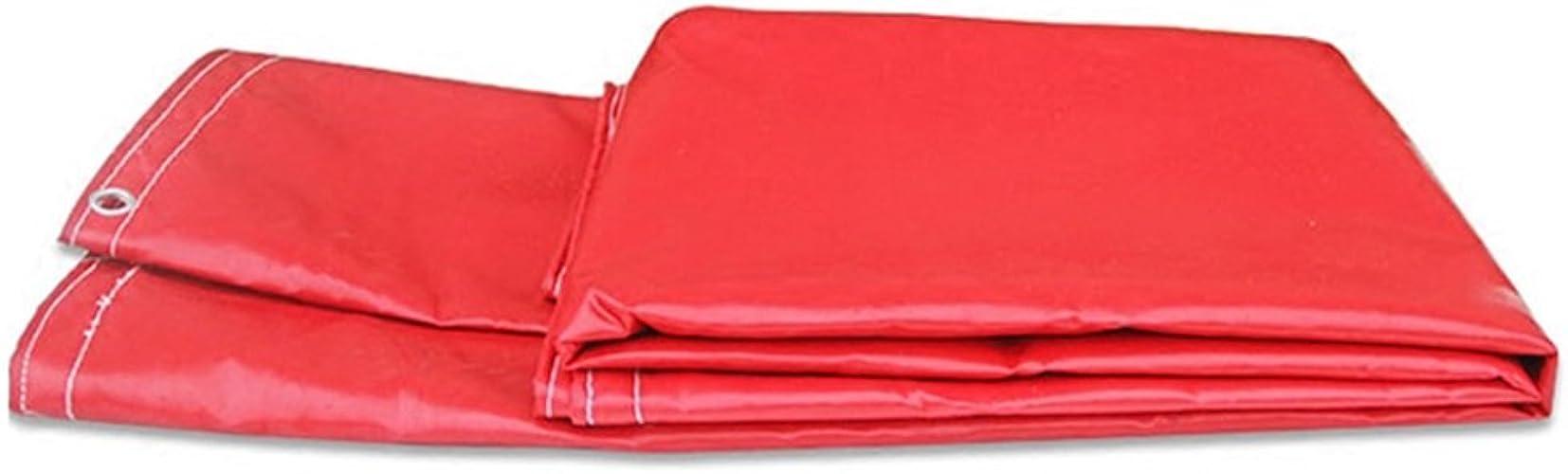 YUJIE Bache De Prougeection Rouge 100% étanche Et Anti-UV - Polyéthylène Tissé Haute Densité Et Double Stratification, 7 Options De Taille
