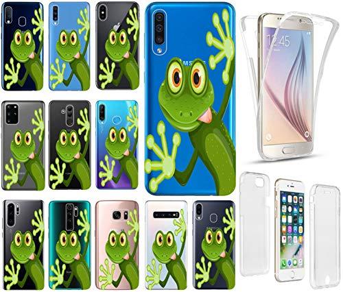 KX-Mobile Hülle für Samsung Galaxy S20 Handyhülle Motiv 2167 Frosch Premium Hülle Silikon Fullbody 360 Grad R&um SchutzHülle Softcase HandyCover Hülle für Samsung Galaxy S20