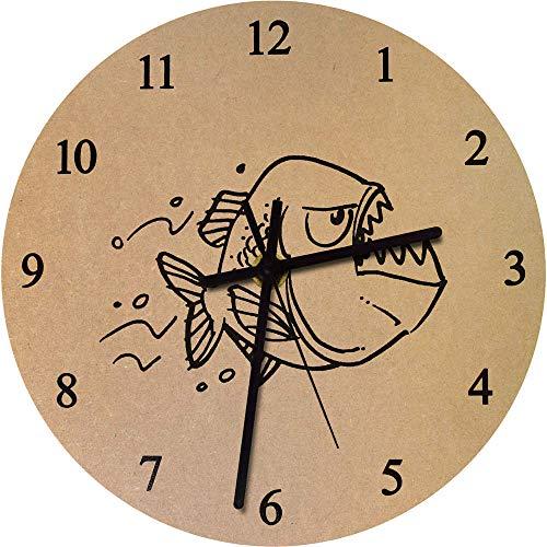 Azeeda 275mm 'Piranha' Große MDF-Uhr (CK00036951)
