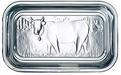 Luminarc Cow Butter Dish, Set of 1, Lid, 1, Clear