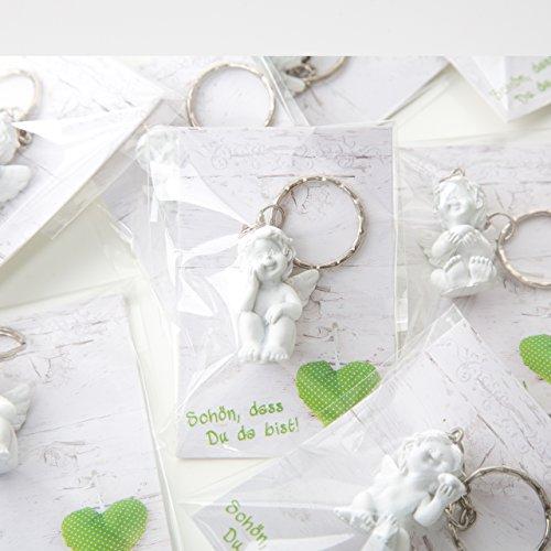 Logbuch-Verlag 10 pequeños amuletos de la suerte para colegas, niños, empleados, Navidad, regalo de bienvenida, bonito que tú da bist Nochevieja, ángel de la guarda