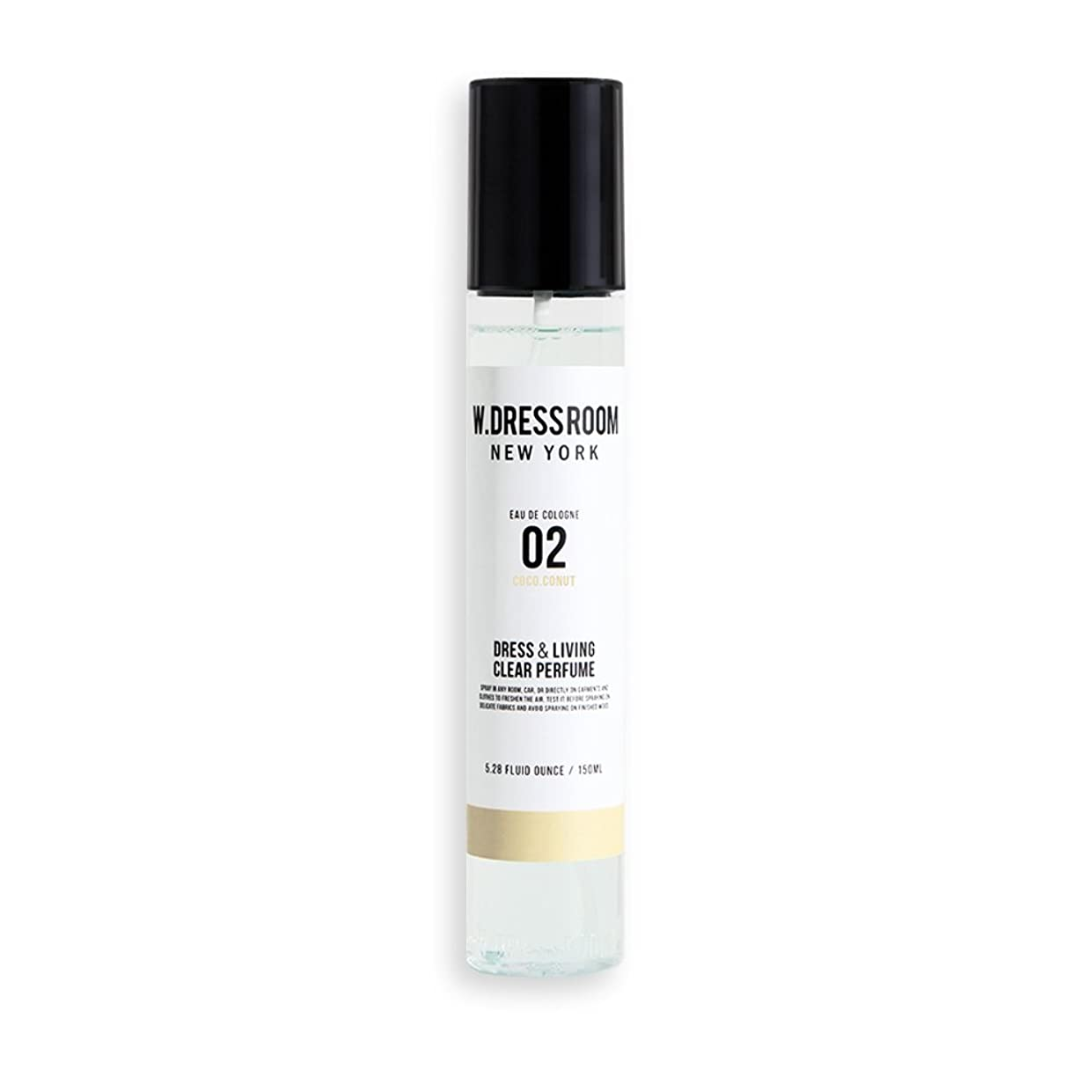 罪悪感スリット相関するw Dressroom Perfumes Air Freshenersホームフレグランススプレー150?ml [ 02。coco-conut ]