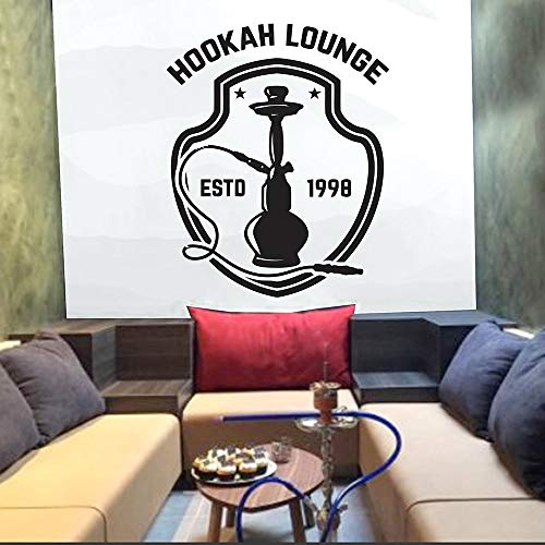 HGFDHG Shisha Lounge Wandtattoo Zitat Kunst Wandaufkleber Shisha Shop Dekoration Shisha Club Entspannender arabischer Jahresmodus