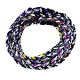 TOOTO Package of 10 Sport Style Tornado Titanium Necklaces-20 Length (Multicoloured)