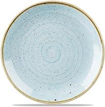 Churchill Stonecast - Plato hondo (28 cm, 12 unidades), color azul