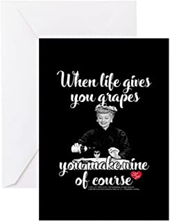 CafePress Lucy Make Wine Of Course Greeting Card, Note Card, Birthday Card, Blank Inside Glossy