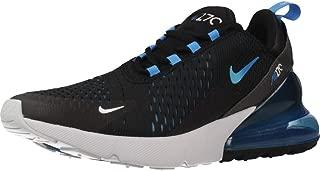 Nike Mens Air Max 270 Running Shoes Black/Photo Blue/Pure Platinum AH8050-019 Size 9.5