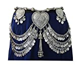 IndiaStop Original Design- Fusion American Tribal Style Belly Dance Coin Belt- Dancer Costume Dress Skirt Hip Scarf Wrap Waist Decorative Jewelry- Womens Fashion Accessory Bohemian Gypsy Hippie Boho