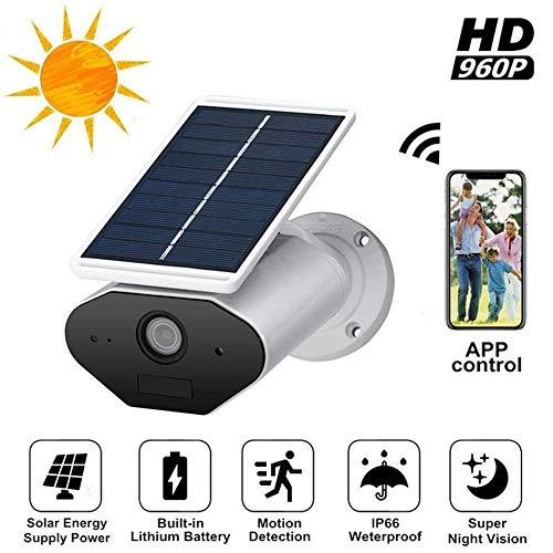 GNB Cámara de Seguridad IP Solar HD1080P, cableado Gratuito al Aire Libre, Soporte PIR Sensor de Movimiento infrarrojo visión Nocturna, conexión WiFi inalámbrica Control Remoto