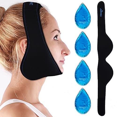 NEWGO®Weisheitszähne Kühlpads Coolpacks Gel Kühlkissen Kalt Warm Kompresse für Gesicht, Kiefer, Kinn, Weisheitszähne - 4 Stück