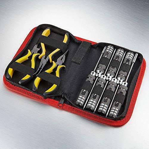 TFL Werkzeugset 10 in 1 + Tasche Zangen Innensechskantschlüssel Schlitz Kreuz etc. TT1603-01