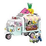 Bloque De Construcción Conjunto Coche para Niñas Y Niños, LOZ Mini Ladrillo Ingeniería Educativa Mejor Regalo Ensamblar Juguetes Rompecabezas 480PCS Carro de Frutas