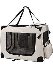 Petigi Torba transportowa składana skrzynka transportowa dla psa składane pudełko do transportu psa kot samochód beżowy M