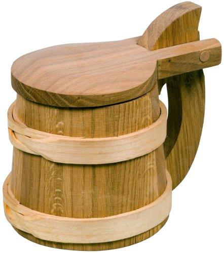HOFMEISTER® Bierhumpen Wikinger, mit Deckel, aus Kirschbaum-Holz und Eichenholz