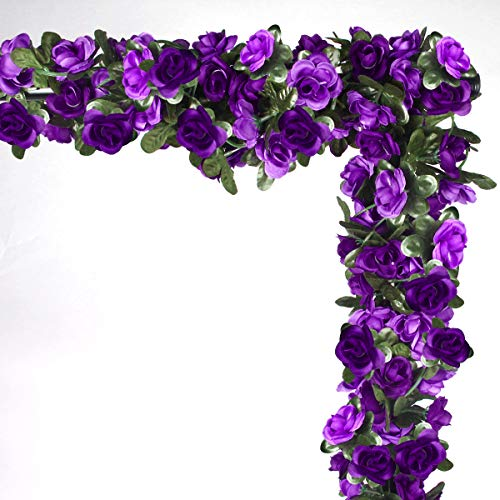NORTHERN BROTHERS Fake Rose Fake Flowers Artificial Flower Garlands For Garden Outdoor 6 Pcs