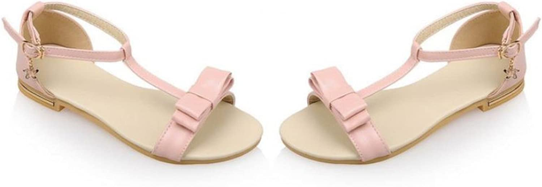 Woman Flat Sandals Sweet Bow Tie Student Flats Girl shoes Women Beach Lady Peep Toe shoes Footwear