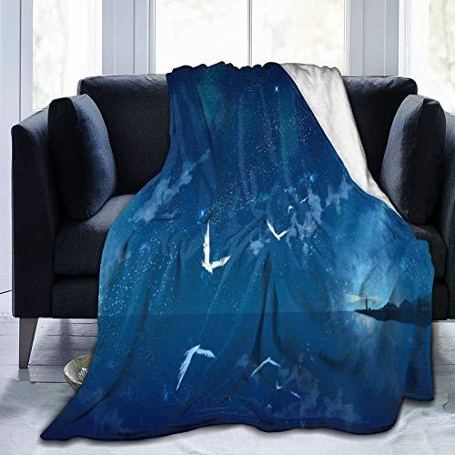 Manta para cama con diseño de Noche del Universo ultra suave y ligera