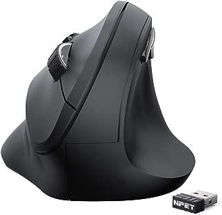NPET エルゴノミクスマウス 2.4G ワイヤレスマウス 垂直型 800/1200/1600 DPI 右利き用 腱鞘炎防止 人間工学 高精度 省電力 6ボタン 滑り止め コンパクト 電池付属しない 2年間品質保証 VM10