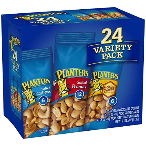 PLANTERS Variety Packs (Salted Cashews, Salted Peanuts & Honey Roasted Peanuts), 24 Packs - Individual Bags of On-the-Go… 5