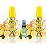 E Liquid Dinner Lady Lemon Tart 50ml (Pack 2 unidades) - 70vg 30pg- booster shortfill + E Liquid The Boat 10 ml lima limón - Pack de 3 unidades para cigarrillo electrónico.