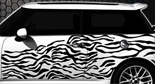 HR-WERBEDESIGN Zebra Pixel Cyber Camouflage XXL Set Auto Aufkleber Sticker Tuning Wandtattoo