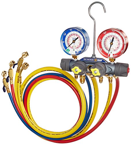 Yellow Jacket 49968 Charging Manifold,,Red/Blue
