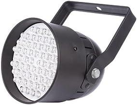 HQ POWER Mini UV LED PAR 54x 10mm Metal 2G7–Black 17x 17x 22.5cm